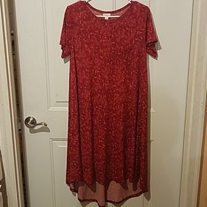 Lularoe small red Floral dress